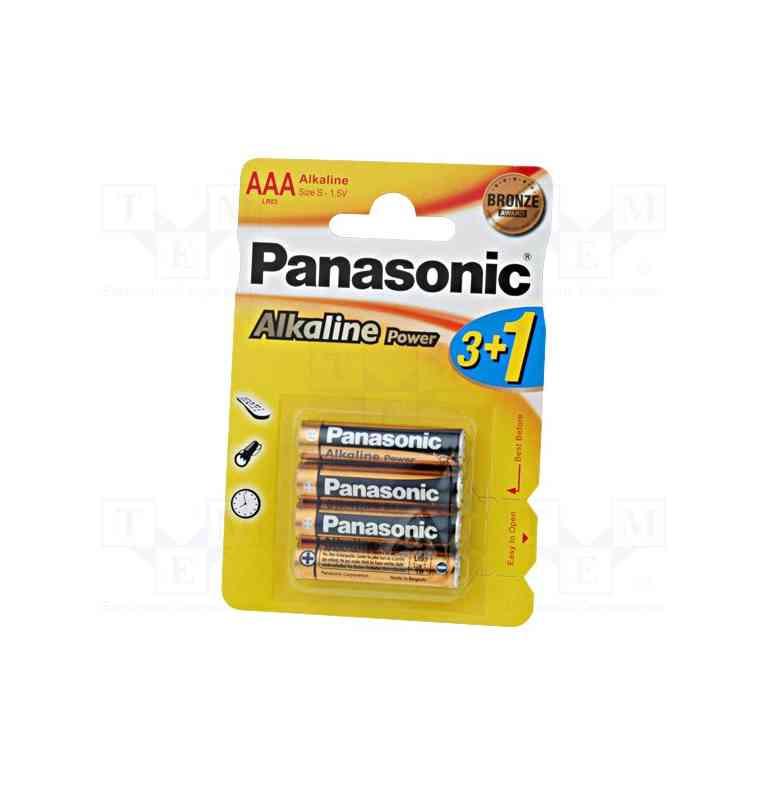 Bateria Panasonic LR03/AAA alkaliczna